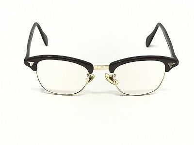 Vintage American Optical Cat Eye Eyeglasses AO 12K Gold Filled Brown Gold 12k GF