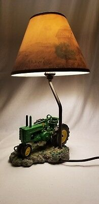 1999 JOHN DEERE Table Lamp Light Desk Lamp Tractor with Shade WORKS