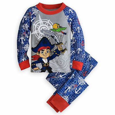 Disney Store Jake And The Never Land Pirate  Pj Pajamas Set For Boys Great Gift
