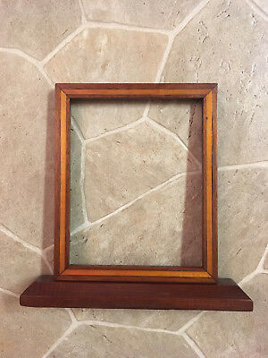 Vintage Handmade Wood Inlaid Free Standing 8 x 10 Picture Frame