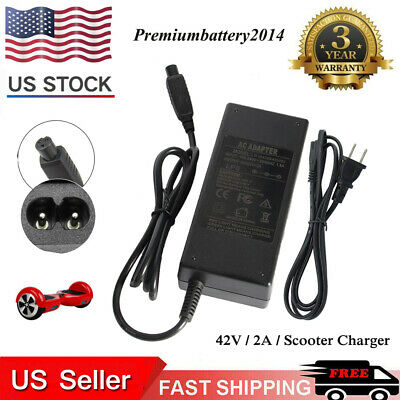 Universal Charger 42V 2A Adapter For Hoverboard Smart Balance Scooter Wheel US