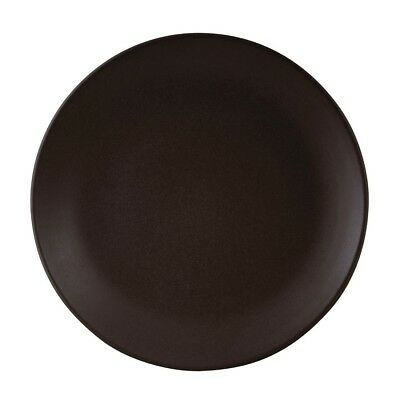 Zuma Coupe Plate Charcoal 230mm - Pack of 6 | Porcelain Fully Vitrified Dish