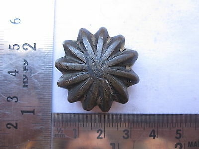 An Old or antique melon  shaped Opium Bell Metal Bronze Scales Weight