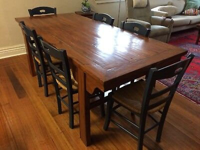 Antique Chinese Dining Table  Wooden
