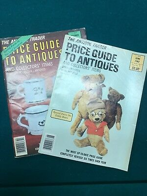 The Antique Trader Magazine Lot Of 2 Price Guide To Antiques 1987