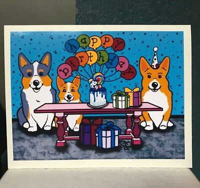Pembroke Welsh Corgi Birthday Card Dog Themed