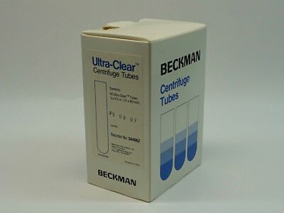 Beckman Ultra-Clear Centrifuge Tube 11x60 mm, cat #344062; Box of 40