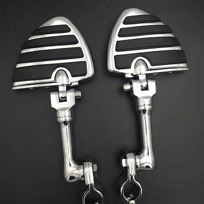 """1 1/4"""" Long Angled Adjustable Clamps Wing Foot pegs For Harley XL Sportster 883"""