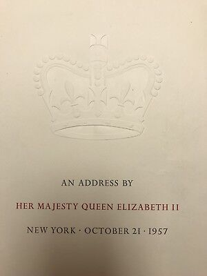 Queen Elizabeth II Royalty Speech Address New York 1957