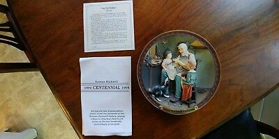 Norman Rockwell Centennial - The Toy Maker - 3D Collectors Plate #7905 A