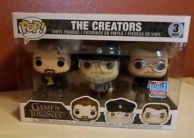 Funko Pop! Game of Thrones: The Creators 3 Pack B & N NYCC 2018 Shared Exclusive