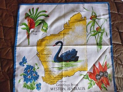 vintage   handkerchief = greetings from Western Australia