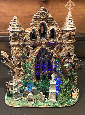 Lemax Spooky Town Collection GOTHIC RUINS Lighted Halloween Village Castle