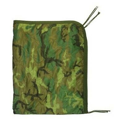 Genuine US Military All Weather Poncho Liner Blanket Camo Style Good for Camping