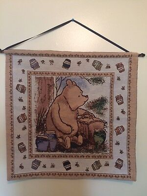 Disney's Winnie The Pooh Cloth Wall Hanging Set For Nursery Winnie Piglet Chris