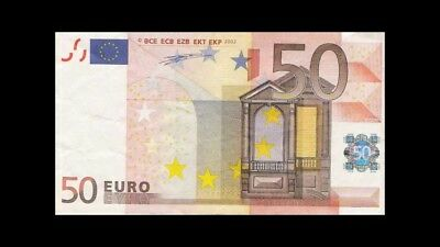 50 euros banknote eur authentic paper money