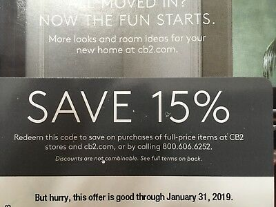 Cb2 Coupon Code 15 Off Expires 1 31 19