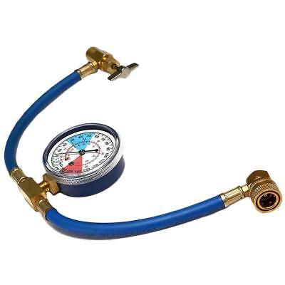 Great Hose Pressure Gauge Car Air Conditioning AC R134A Refrigerant Recharge vi