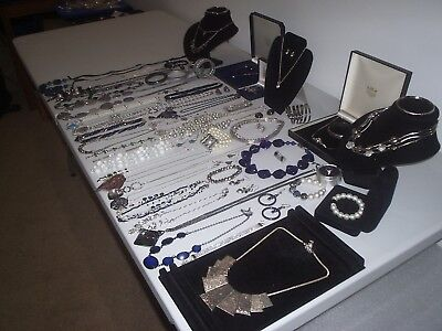Large Job Lot Of Vintage & Costume Jewellery Necklaces Bracelets Earring (T)