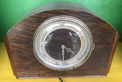 1930s Plymouth By Seth Thomas Mantel Clock Westminster Chime Burled Finish 124 M