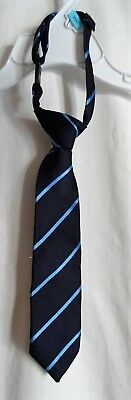 Boys 6-18 Month Navy & Bue Striped Clip On Tie Euc ~ The Children's Place