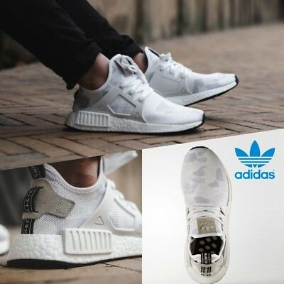 41dad4501e451 Adidas NMD XR1 Nomad Boost Running Shoes White Core Black BA7233 🔥