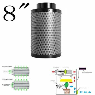 """8"""" Hydroponic Air Carbon Filter Odor Control for Inline Exhaust Vent Fan Premium"""