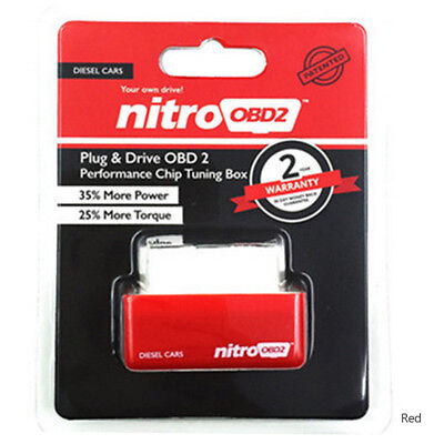 RED Eco OBD2 Economy Chip Tuning Box Interface Plug Drive For Diesel Cars Saving