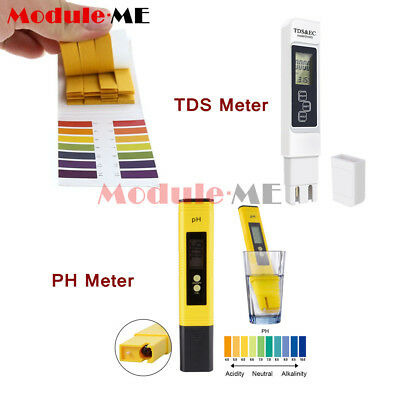 Digital LCD PH TDS EC Meter Tester Pocket Pen Pool Drinking Water Test Strips