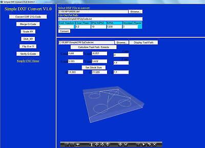 3 Axis CNC Software Simple DXF 2 G-Code
