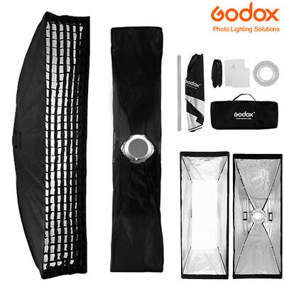 22x90cm Godox Rectangle Bowens Mount Strip Softbox + Grid Fr Studio Strobe Flash