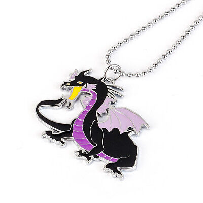 Disney Sleeping Beauty Maleficent Dragon Necklace Pendant Cosplay Gift