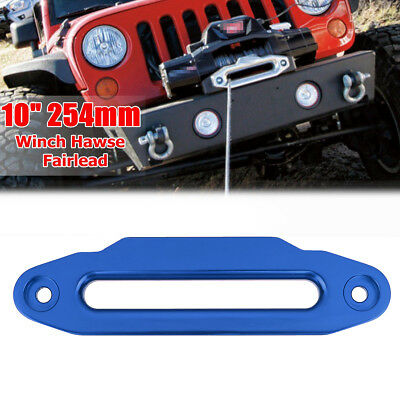 10'' 254mm Blue Aluminium Hawse Fairlead 16800lbs for Winch Synthetic Rope 4WD