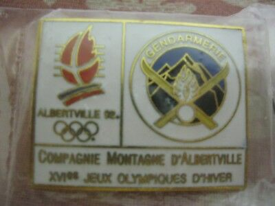 NEUF PIN'S GENDARMERIE MONTAGNE ALBERTVILLE 92 JEUX OLYMPIQUES PGHM Olympic Game