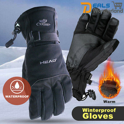 Windproof Men's Ski Riding Gloves Winter Snowboard Snowmobile Motorcycle Riding