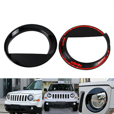 2pcs Angry Bird Headlight Bezels Cover Trim for Jeep Patriot 2011-2015 2016 2017