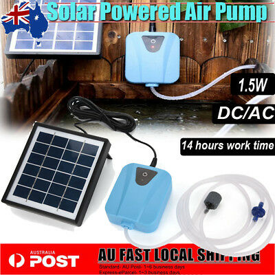 Solar Powered Oxygenator Aerator Air Pump Oxygen Kit Outdoor Pool Pond Fish Tank