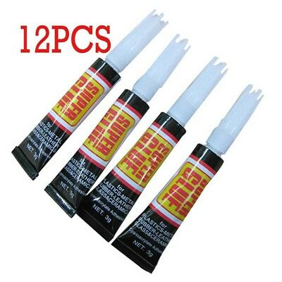 12pc Premium quality super glue extra strong adhesive paper rubber plastic glass