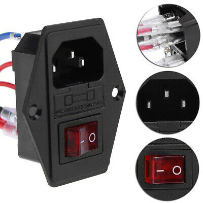 Power Supply Triple Outlet Socket Switch With Fuse For 3D Printer Set 220V/110V