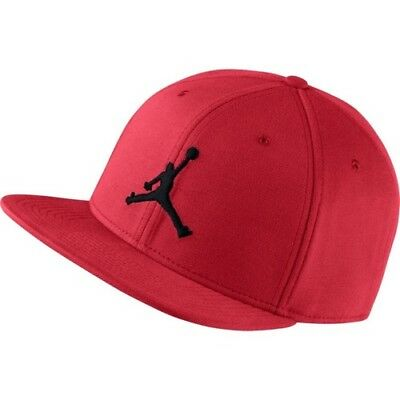 b848750ecf5 Nike Air Jordan Jumpman Snapback Hat Flat Baseball Cap Red - One Size