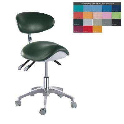 Dental Mobile Chair Ophthalmic Saddle Chair Doctor's Stool PU Leather Chair