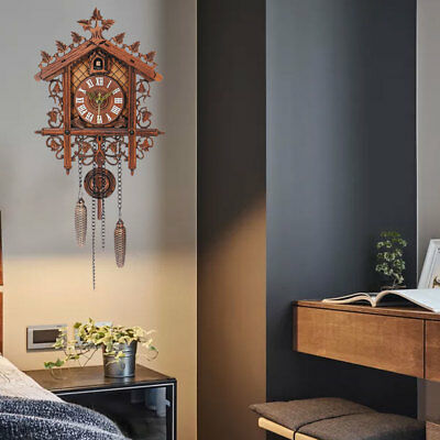 Europea Cuckoo Clock House Wall Clock Modern Art Vintage Home Decor
