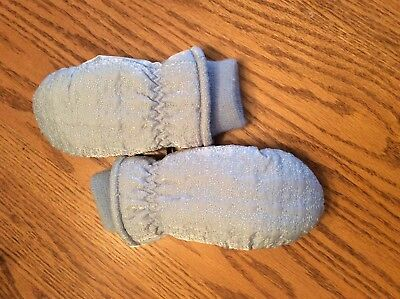 Light blue children's winter mittens-thinsulate