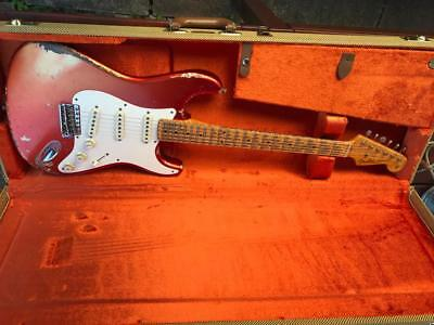 Fender Master Build Dale Wilson Strat 50's Heavy Relic Cand Melon Excellent!