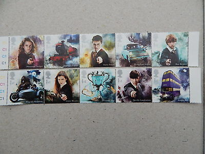 gb stamps  Harry Potter Stamps. Ten First Class Stamp Set.