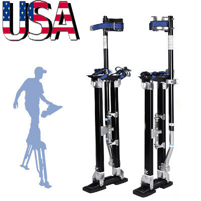 Drywall Stilts 24-40 Inch Aluminum Tool Stilt For Painting Painter Taping Black