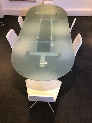 Office meeting conference table - Frosted Glass - 240 x 100cm