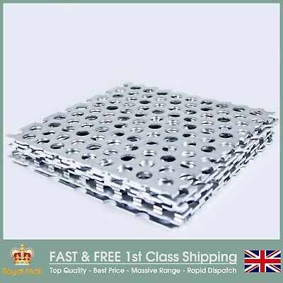 10mm Round Hole Perforated Sheet - Guillotine Cut - 4 Metal Options
