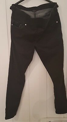 Black peacocks maternity jeans size 14 great condition
