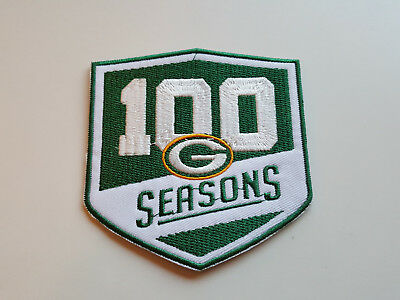 NFL Patch Aufnäher Green Bay Packers 100 Years Anniversary groß 9,5 x 10 cm